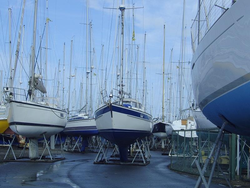 bateaux de plaisance, hivernage au sec